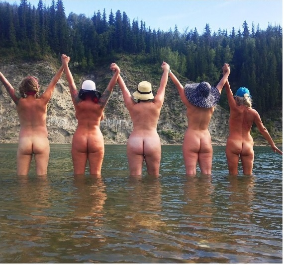 Five Naturist Ladies at CottonTail Corner Naturist Beach